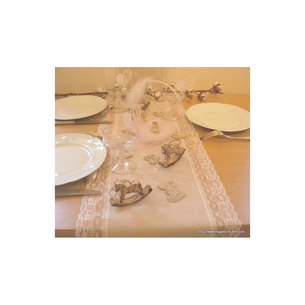 Chemin de table toile de jute chemin de table en jute - Chemin de table naturel ...