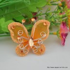 papillon orange pour déco de table