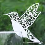 Marque place oiseau blanc