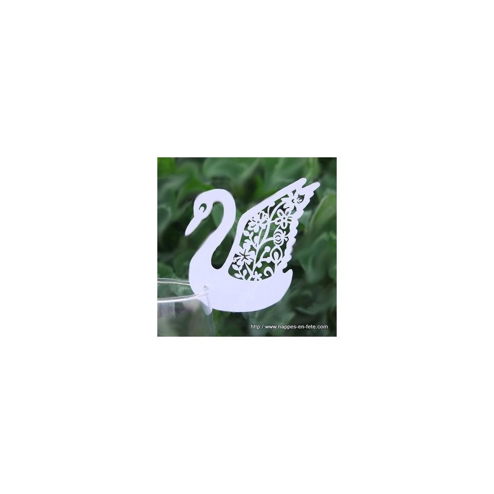 Marque place cygne blanc