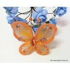 papillon orange pour déco de table