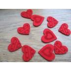 coeurs en feutrine pour décor de table St Valentin