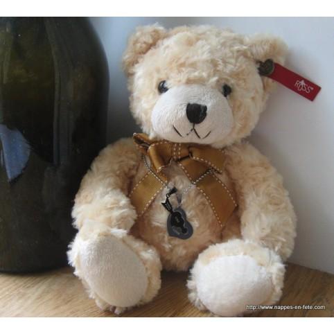 Ours en peluche pour Saint valentin avec bijoux coeur,en 2 parties, pour amoureux