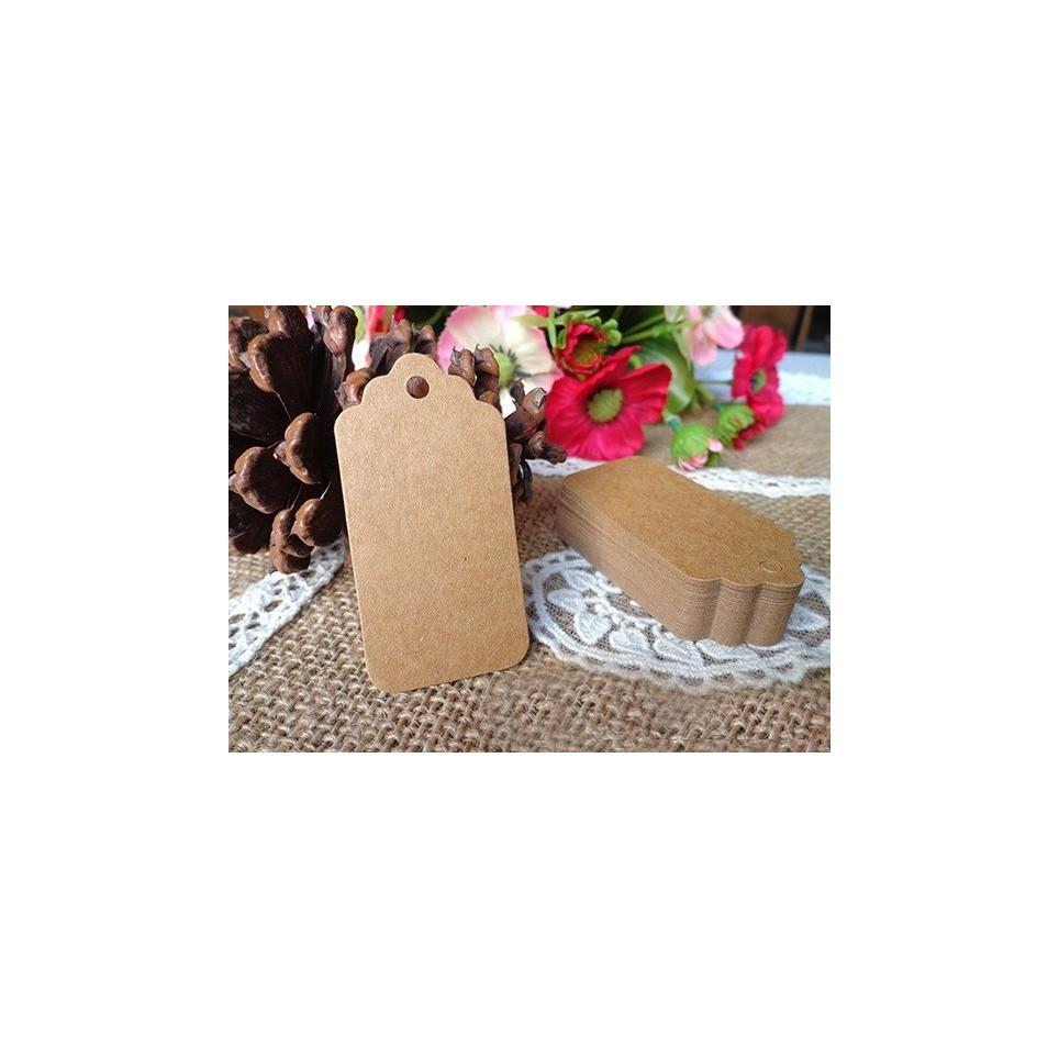 Etiquette carton kraft petit modèle