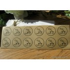 Planche étiquettes autocollantes kraft - thanks you