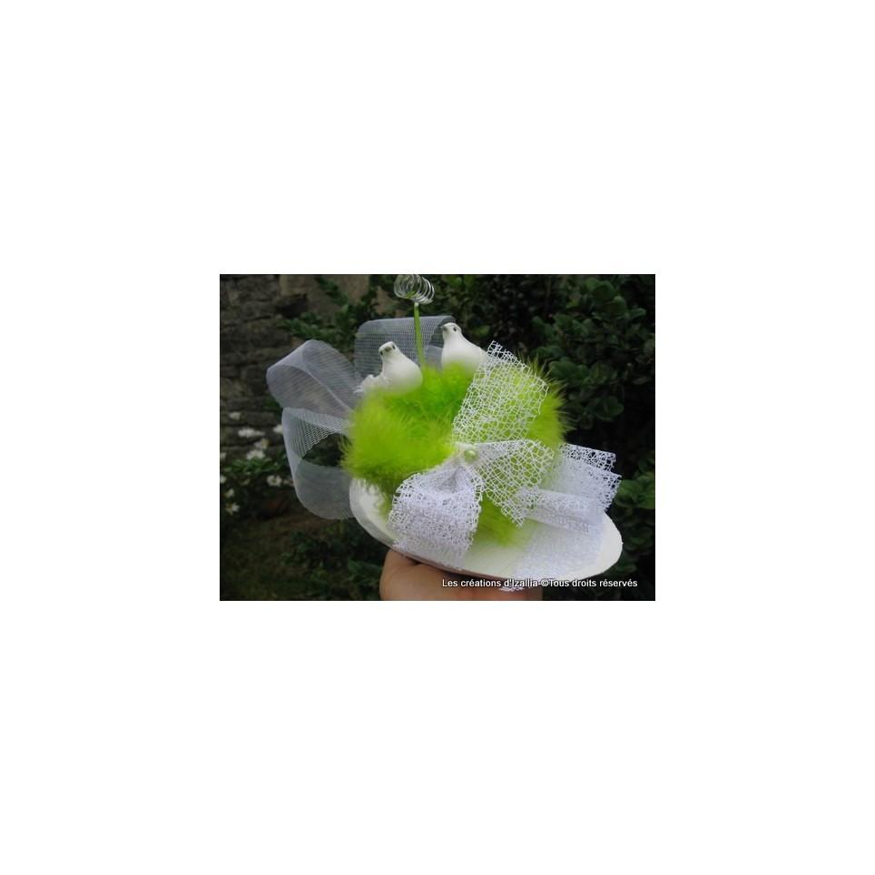 porte alliances vert anis, modèle original de créateur