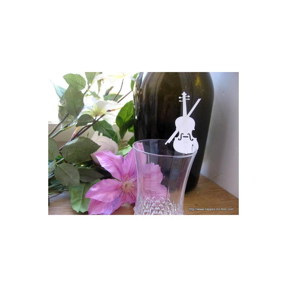 Marque place violon pour verre