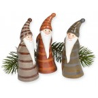 Lot de trois figurines de noël assorties
