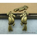 charms bronze oiseau perroquet