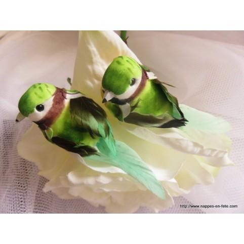 D coration de table sur le th me printemps 19 nappes for Oiseaux artificiels de decoration