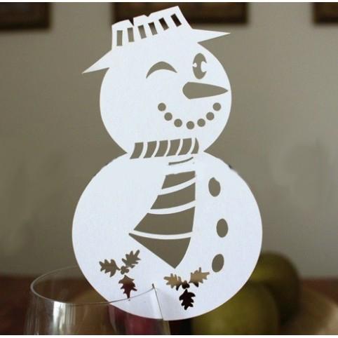 Marque place verre bonhomme de neige