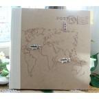 Livre d'or papier kraft thème voyage
