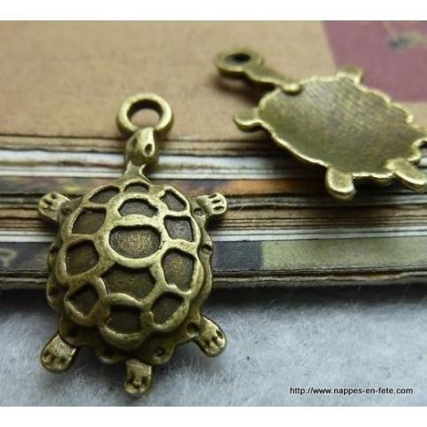 charms bronze tortue pour Porte clé