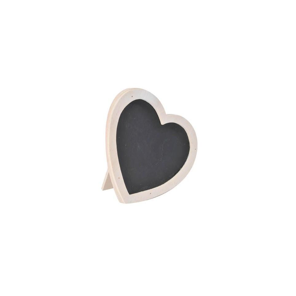 marque place ardoise blanc en forme de coeur