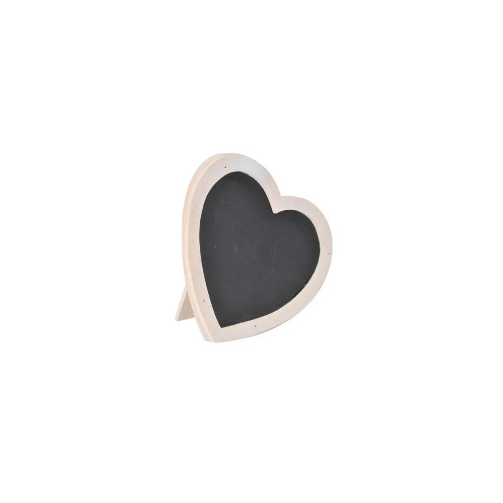 marque places coeurs en bois blanc. Black Bedroom Furniture Sets. Home Design Ideas