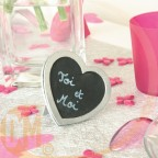 Marque place ardoise coeur, pour st valentin