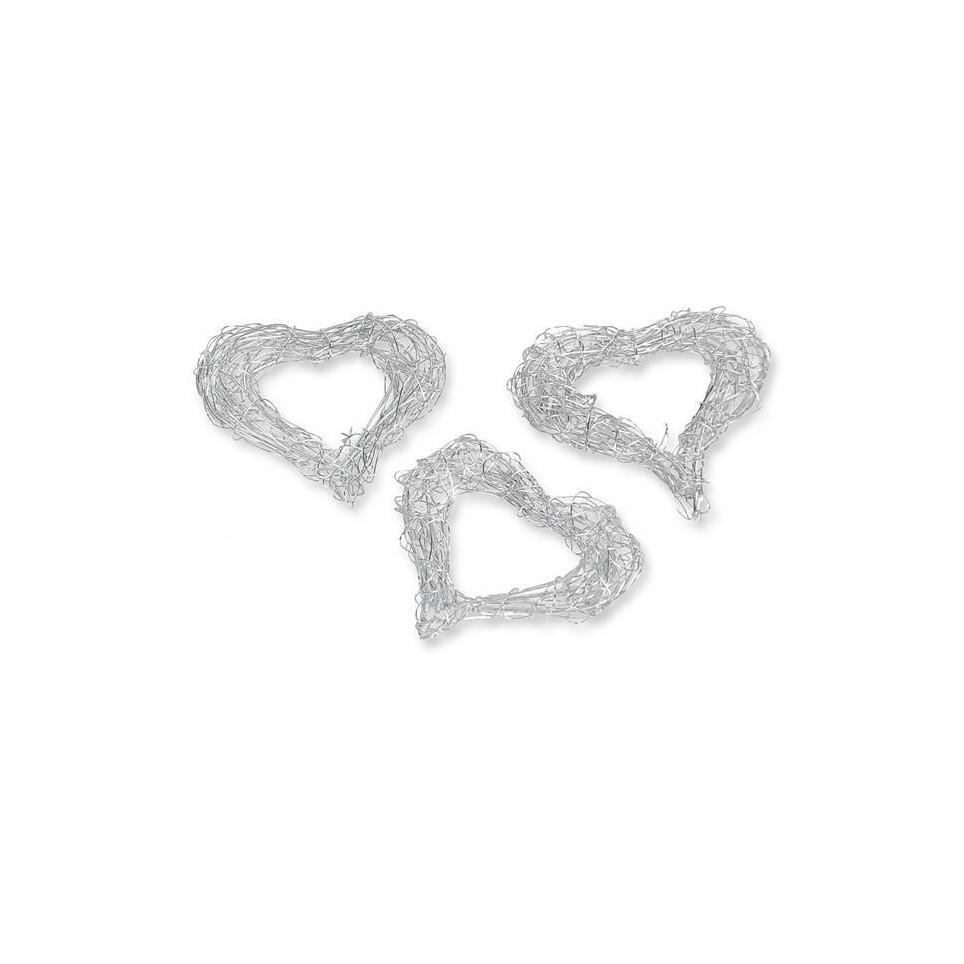 Cœurs en métal pour orner votre table