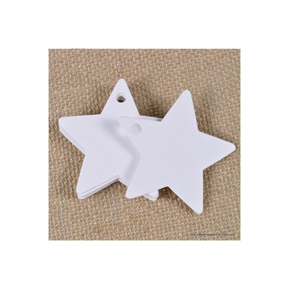 Etiquette en forme d'étoile en carton blanc
