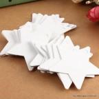 Etiquette étoile carton blanc
