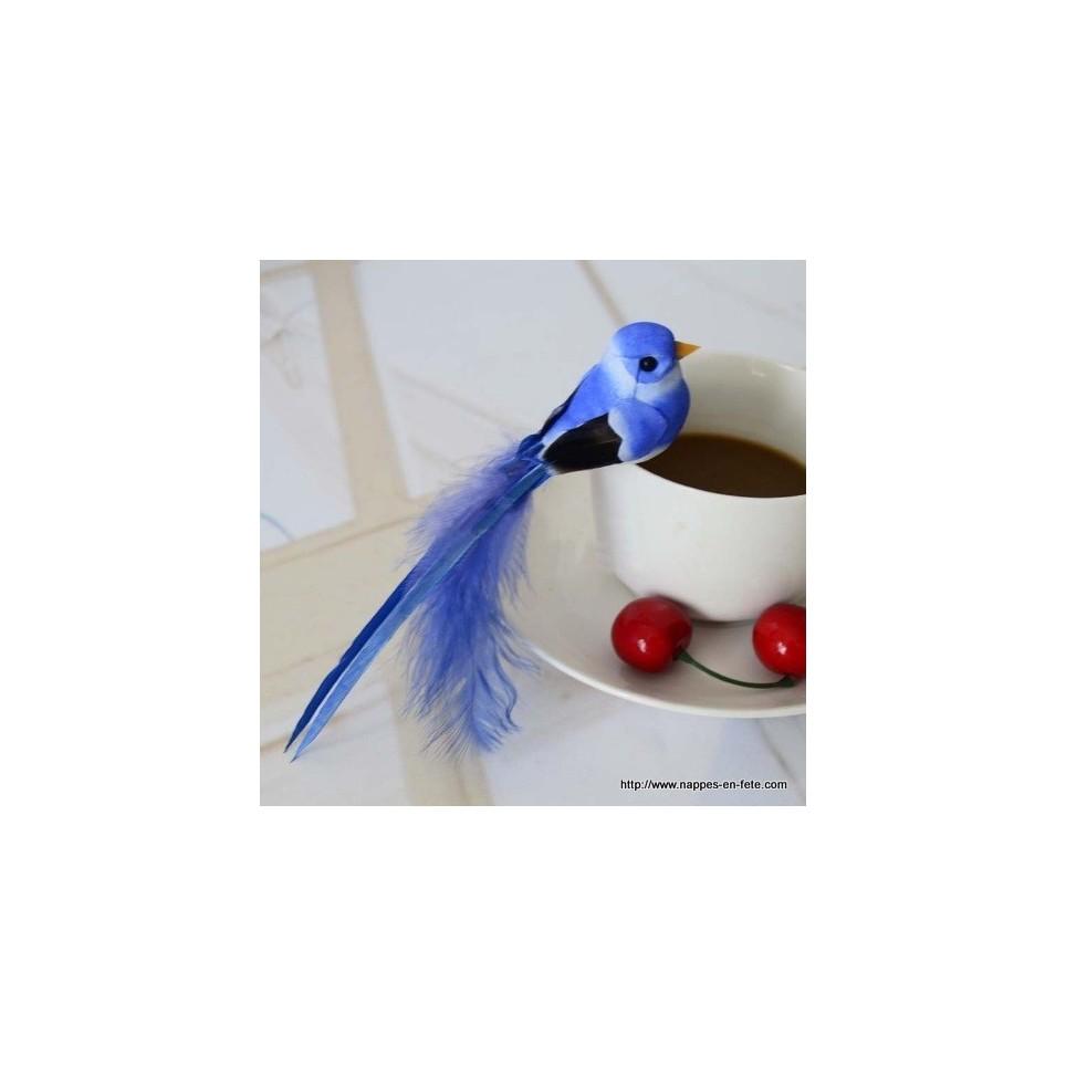 oiseaux artificiels bleus