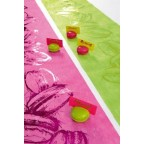 Lot de 2 marque place macaron rose pour votre déco de table
