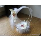 Porte alliance orchidée et dentelle