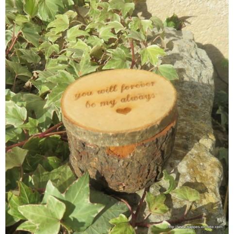 porte alliance champêtre en bois naturel