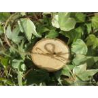 porte alliance champêtre rondin en bois naturel