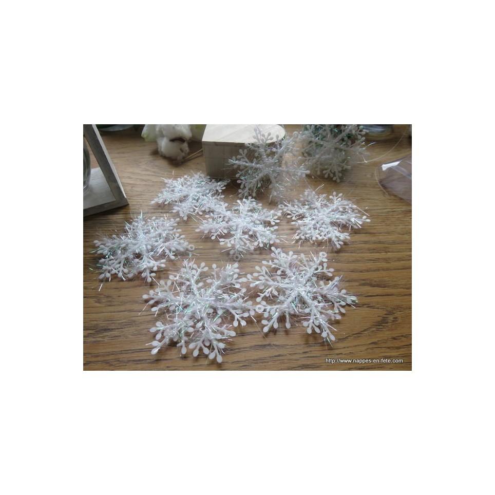 flocons de neige vaporeux pour deco de table de Noël
