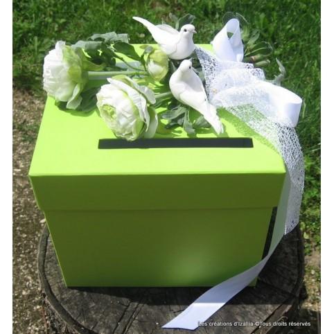 Tirelire nuptiale, urne personnalisée à vos couleurs