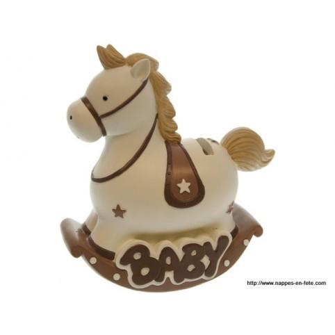 Tirelire cheval cadeau naissance ou baptême