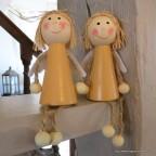Anges en bois pour décoration chambre de bébé ou de noel