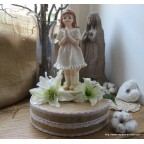 Figurine communiante, centre de table pour communion
