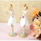 figurine jeune fille pour anniversaire ou communion