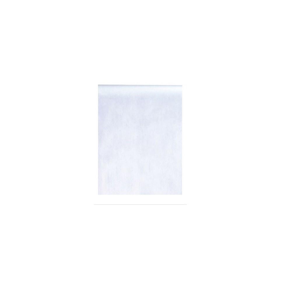 Chemin de table intissé Blanc 10m