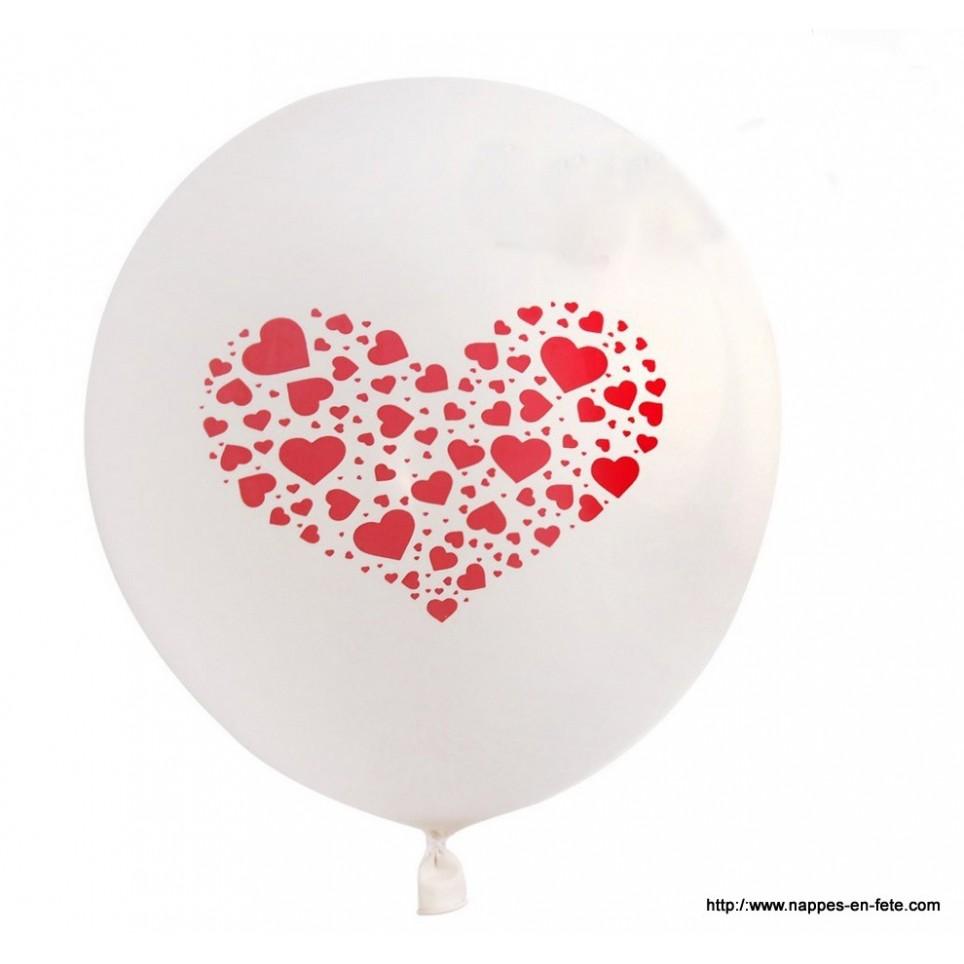 Ballons avec coeurs pour saint valentin ou deco de mariage - Coeur st valentin ...
