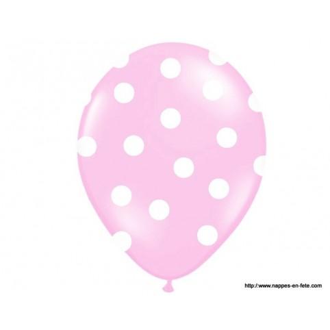 ballon à pois rose et blanc