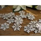 flocons de neige en bois pour deco de table de Noël