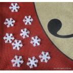 flocons de neige pour deco de table de Noël