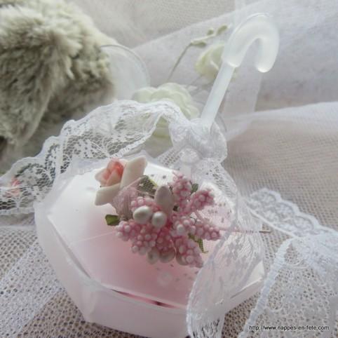 parapluie contenant pour dragées ou bonbons