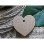 Etiquette coeur carton kraft