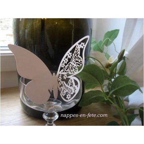 Marque place papillon ivoire