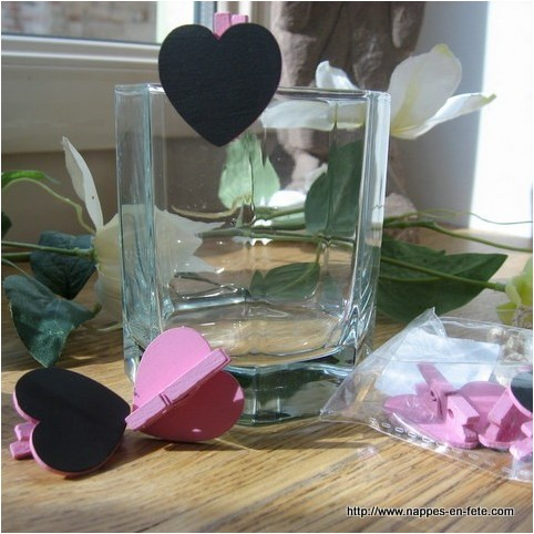 Marque place coeur rose