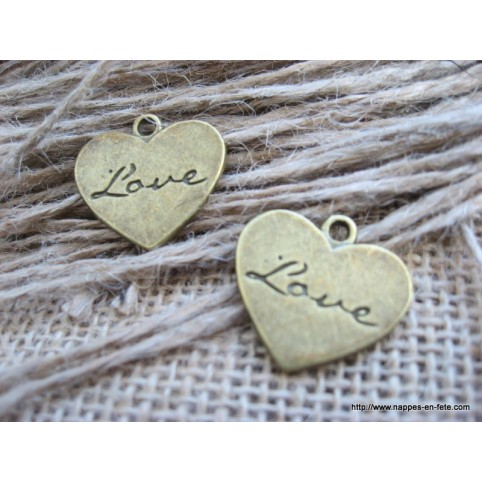 charms bronze coeur