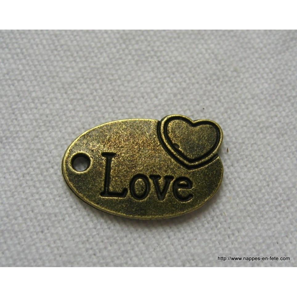 charms bronze coeur