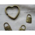 Coeur Cercle Porte clé, cadeau pour invité