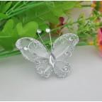papillon argent pour déco de table