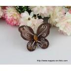 papillon chocolat pour déco de table