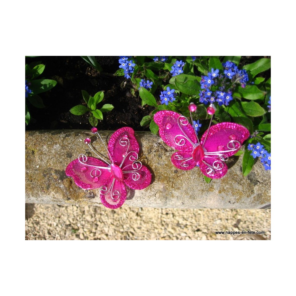 Papillon Rose Fushia Pour D Co De Table De F Te