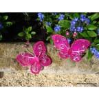 papillon fushia pour déco de table
